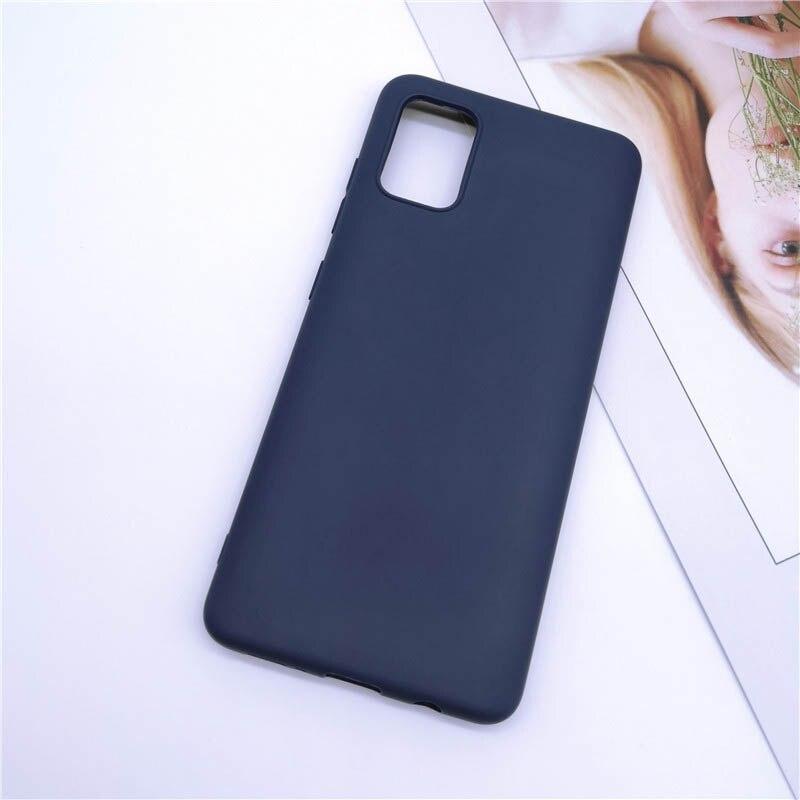 Чехол Soft Touch для Samsung Galaxy A71 (A715) силикон бампер темно-синий