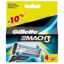 Змінні картриджі для гоління Gillette Mach 3 (4 шт) змінні касети джилет мак3