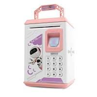 Детская электронная копилка сейф Банк, копилка для детей со звуковыми эффектами, фото 1