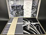 Комплект постельного белья сатин бамбук TM Belizza 200*220 Atlantis Gri, фото 2