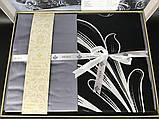 Комплект постельного белья сатин бамбук TM Belizza 200*220 Atlantis Gri, фото 6