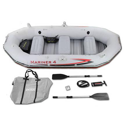 Четырехместная надувная лодка MARINER Intex 68376 328 x 145 x 48 см, фото 2
