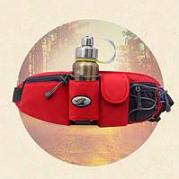 Спортивная сумка – бананка с отделом для бутылки с водой (СТР-3040-60)