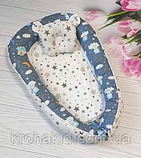 Детский кокон / гнездышко / позиционер для новорожденных малышей с ортопедической подушкой, фото 2