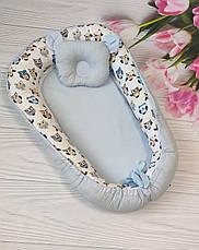 Детский кокон / гнездышко / позиционер для новорожденных малышей с ортопедической подушкой, фото 3