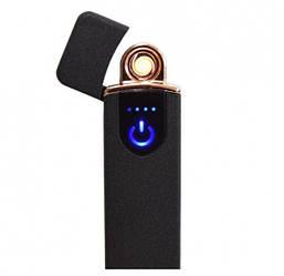 USB Электрозажигалка спиральная Lighter Classic Fashionable, Чёрная матовая (57302)