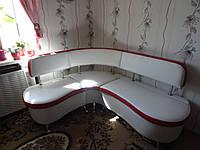 Белый кухонный уголок. Кухонный уголок на заказ Днепр.