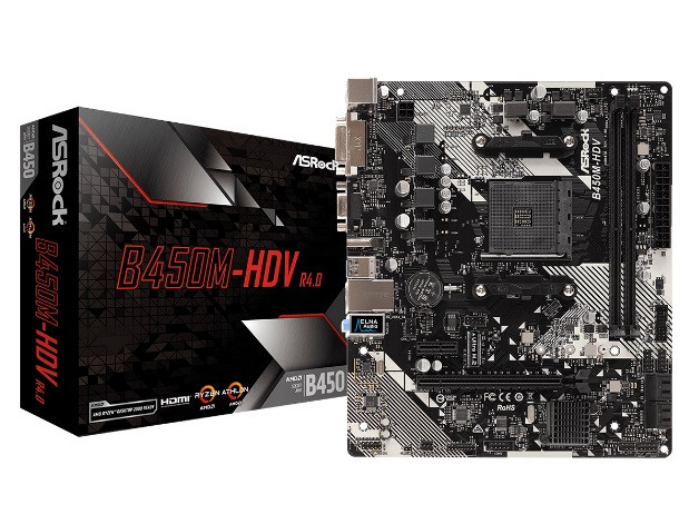 ASRock B450M-HDV R4.0 Socket AM4