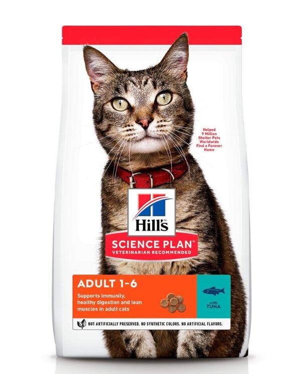 Корм Хіллс SP Fel Adult Tn з тунцем для дорослих котів, 0,3 кг