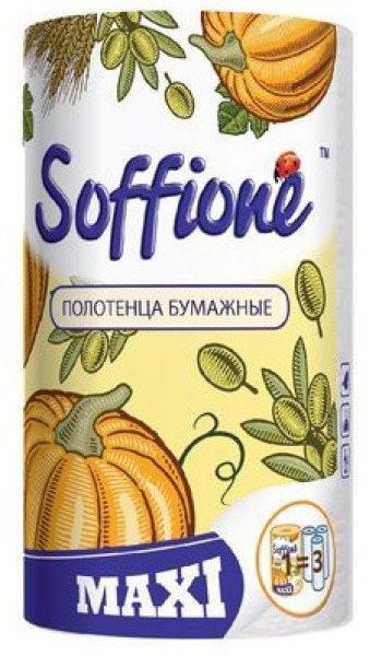 Бумажные полотенца SOFFIONE MAXI 2 слоя 1 шт (150 отрывов)