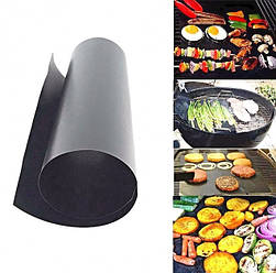 Антипригарный тефлоновый коврик для гриля BBQ grill sheet 33х40х0.2см мат  черный(38204)