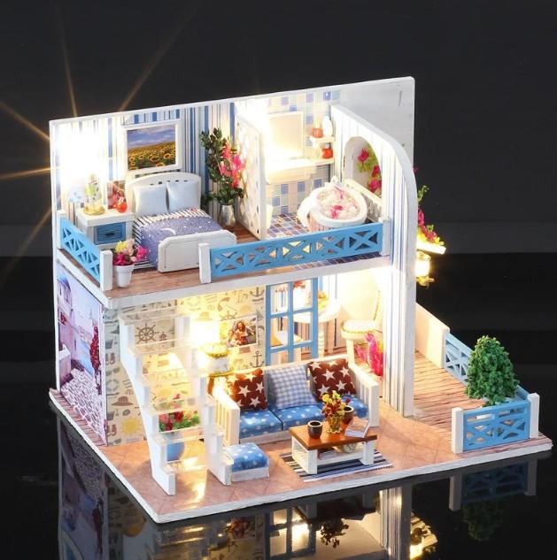Кукольный дом с мебельной мебелью K-019 Helen The Other Shore DIY
