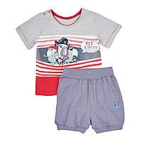 Летний комплект для мальчика футболка с шортами 74-92 р