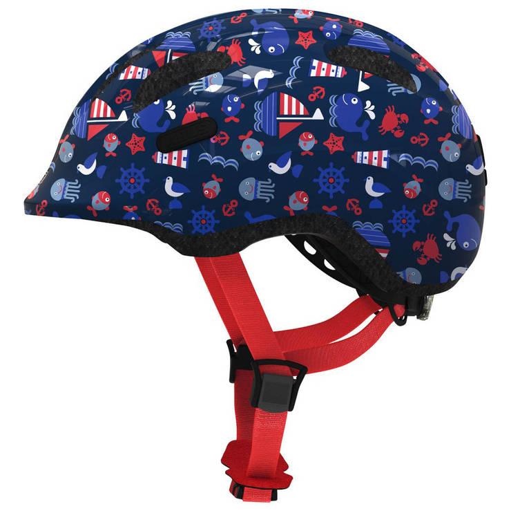 Велосипедний дитячий шолом ABUS SMILEY 2.1 S 45-50 Blue Maritim, фото 2