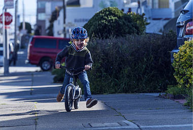 Велосипедний дитячий шолом ABUS SMILEY 2.1 S 45-50 Blue Maritim, фото 3