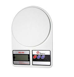 Весы кухонные Domotec MS 400 с LCD дисплеем электронные Белые (89311)
