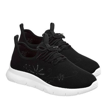Летние женские кроссовки из черного вентилируемого текстиля GIPANIS 37 р. - 23 см (1185572470), фото 2