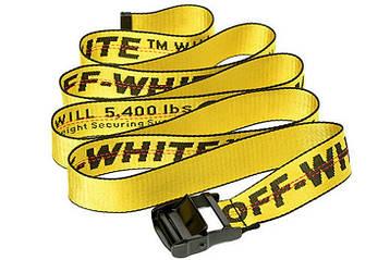 Ремень Пояс Off-White - Желтый 125 см (55622)