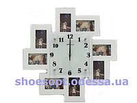 Фоторамка настенная Часы 55х50,5х3 см на 8 фото