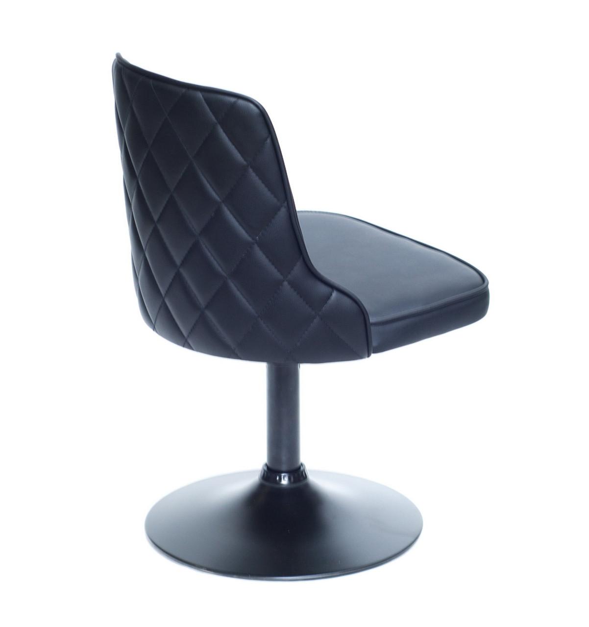 Кресло Адам ADAM ВК-BASE черная экокожа на черном блине, стеганная спинка