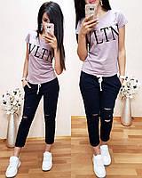 Нежная легкая женская футболка Valentino S/M/L/XL, фото 1