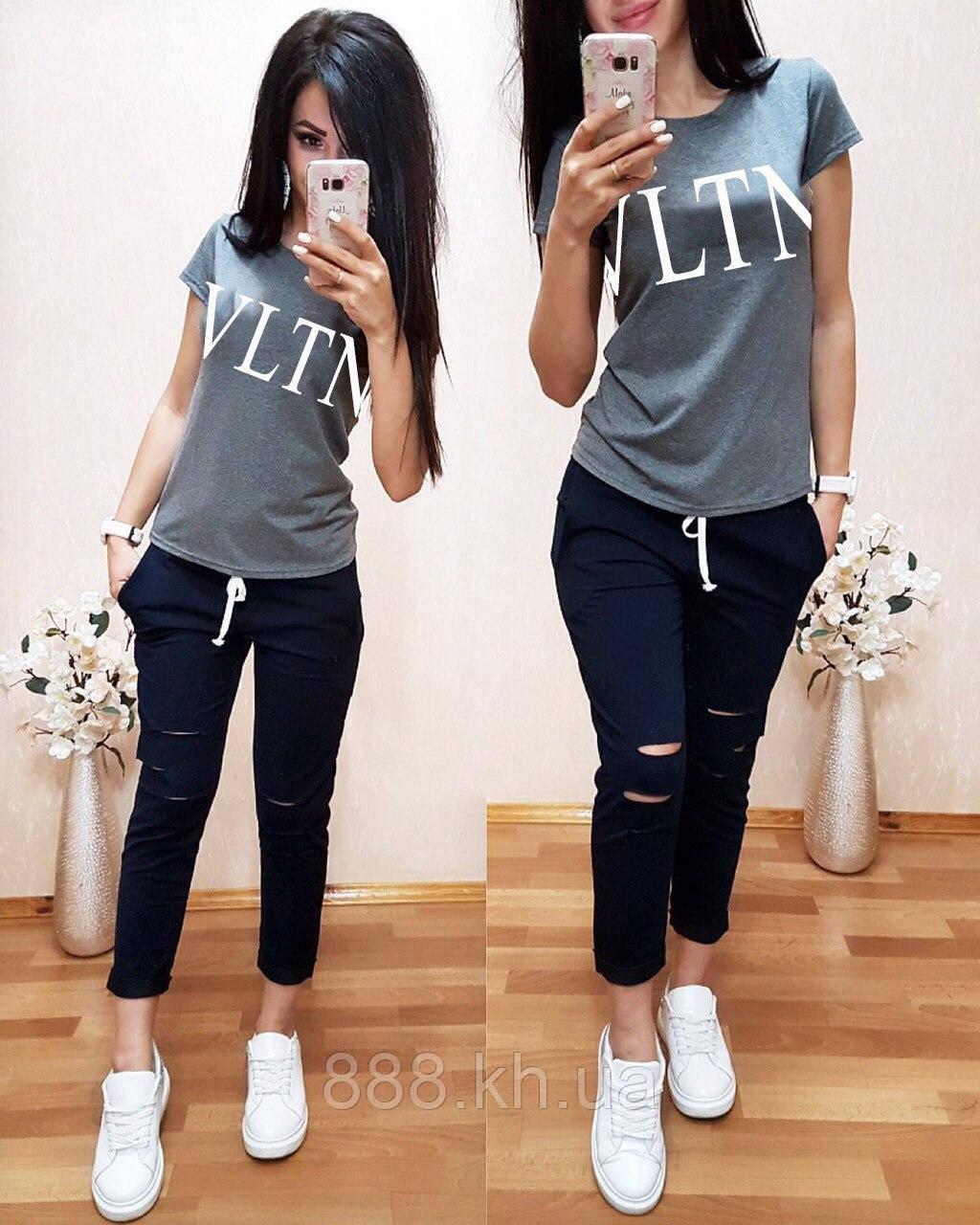 Нежная легкая женская футболка Valentino S/M/L/XL