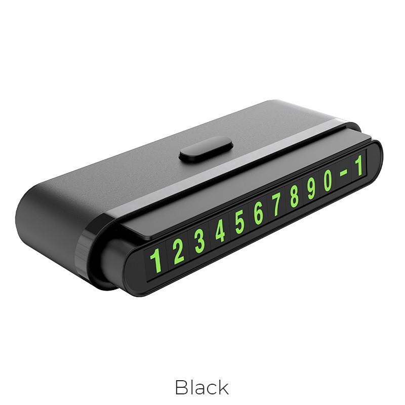 Визитка на панель при временной парковки автомобиля Hoco CPH19 Black