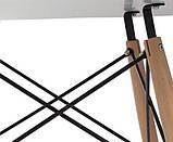 Стол обеденный Крит белый 70*70 белый на буковых ножках SDM Group (бесплатная доставка), фото 2