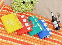 Пляжный коврик-сумка складной оптом и в розницу (3 размера )