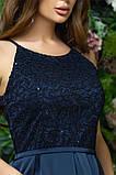 Элегантное женское вечернее платье с юбкой в складку (4расцв)42,44,46р., фото 6
