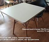 Стол обеденный Крит белый 70*70 белый на буковых ножках SDM Group (бесплатная доставка), фото 5