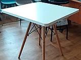Стол обеденный Крит белый 70*70 белый на буковых ножках SDM Group (бесплатная доставка), фото 7