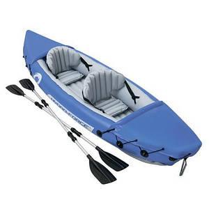 Надувная лодка-байдарка Bestway Hydro-Force Raft Set 65077 двухместная