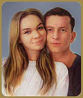 Подарок на свадьбу юбилей годовщину Авторская картина маслом холст рама Портрет на заказ по фото Ручная работа