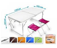 Стол для пикника Folding table Синий цвет
