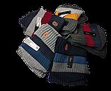 М 94019 Комплект для мальчика  шапка на флисе и снуд, разние цвета, фото 6