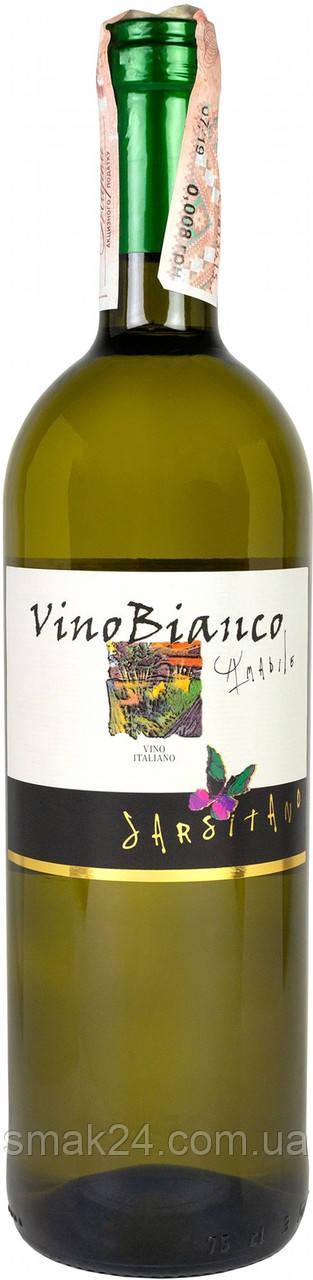 Вино белое полусладкое Sarsitano Vino Bianco Secco 0,75 л Италия