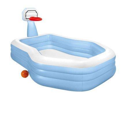 Детский надувной бассейн Intex с баскетбольным кольцом 57183 257*188*130 см