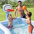 Детский надувной бассейн Intex с баскетбольным кольцом 57183 257*188*130 см, фото 2