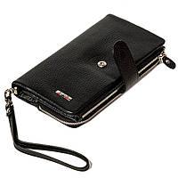 Жіночий клатч шкіряний чорний BUTUN 022-004-001