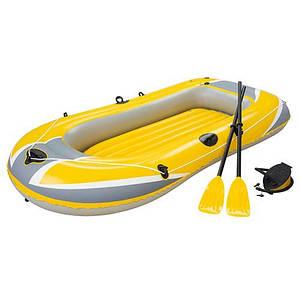 Лодка надувная Bestway Hydro-Force Raft 61083 228-121 см весло 2 шт и насос