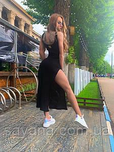 Женское длинное платье с шевроном на спине в расцветках. ОЛ-4-0520