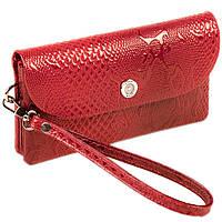 Жіночий клатч Karya 1121-019 шкіряний червоний