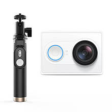 Экшн-камера Xiaomi Yi Action Camera EU Version + Yi Selfie Stick Белый