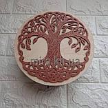 Шкатулка круглая Дерево (красно-белая или бело-красная), фото 2