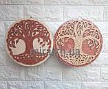 Шкатулка круглая Дерево (красно-белая или бело-красная), фото 3