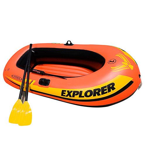 Човен EXPLORER Intex 58332 з насосом і веслами надувний човен