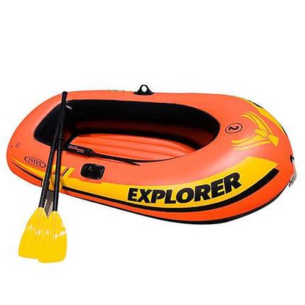 Човен EXPLORER Intex 58332 з насосом і веслами надувний човен, фото 2