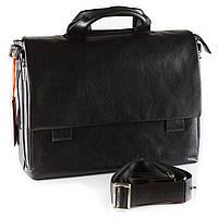 Мужской портфель из мягкой кожи Eminsa 7101-37-1 черный