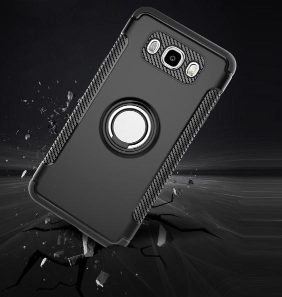 Противоударный бампер с магнитом и кольцом для Samsung Galaxy S7 edge